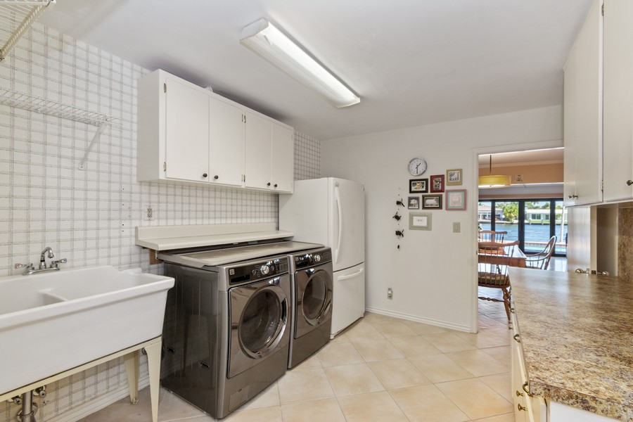 Real Estate Photography - 5210 NE 33rd Ave, Ft Lauderdale, FL, 33308 - Laundry Room