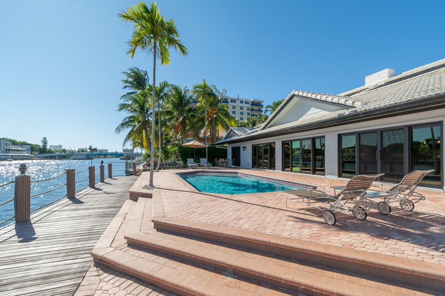 Real Estate Photography - 5210 NE 33rd Ave, Ft Lauderdale, FL, 33308 - Patio - Pool Intracoastal
