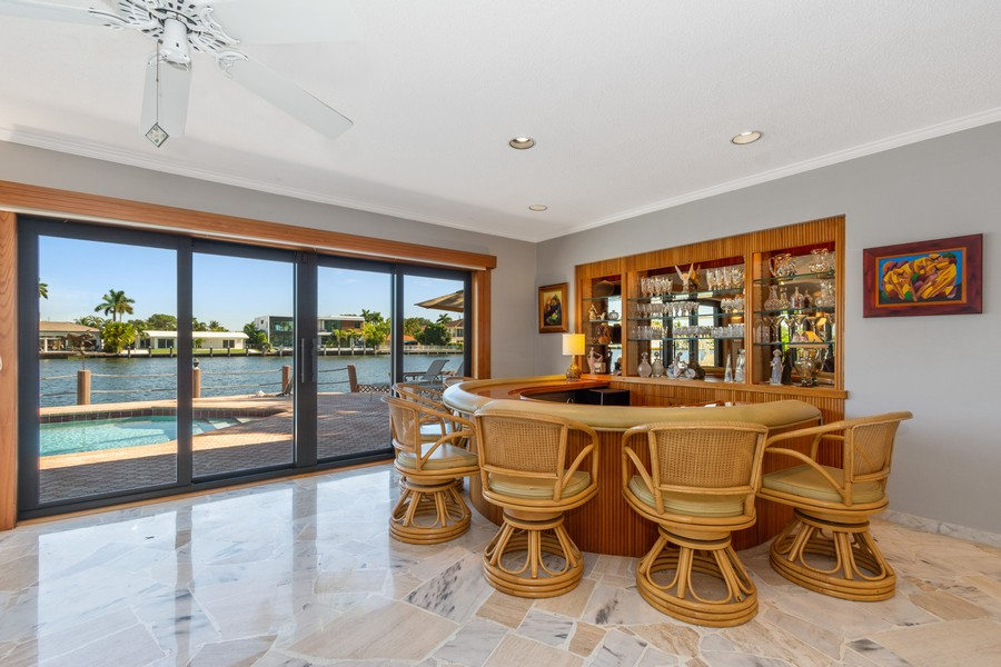 Real Estate Photography - 5210 NE 33rd Ave, Ft Lauderdale, FL, 33308 - Family Room - Bar
