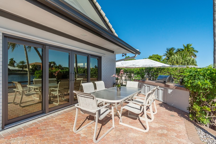 Real Estate Photography - 5210 NE 33rd Ave, Ft Lauderdale, FL, 33308 - Patio - Barbeque/Kitchen Area
