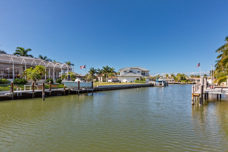 Real Estate Photography - 685 Thrush Ct, Marco Island, FL, 34105 - Canal View