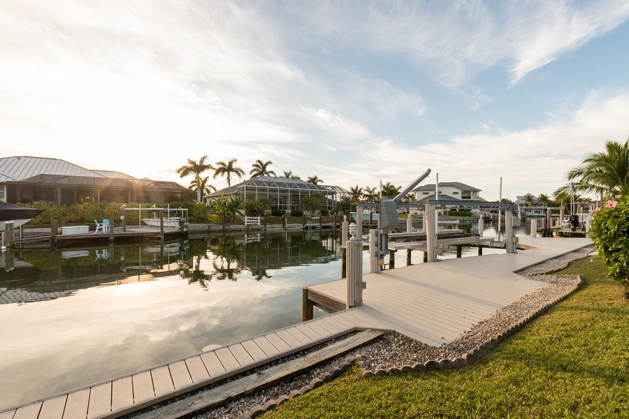 Real Estate Photography - 685 Thrush Ct, Marco Island, FL, 34105 - Dock