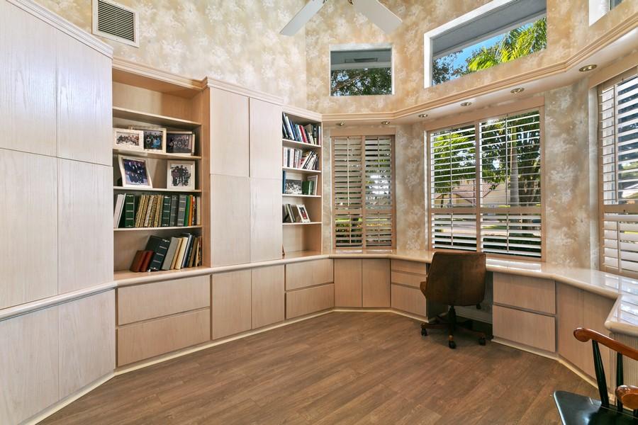 Real Estate Photography - 103 Woodsmuir Ct, Palm Beach Gardens, FL, 33418 - Built In Office/Den