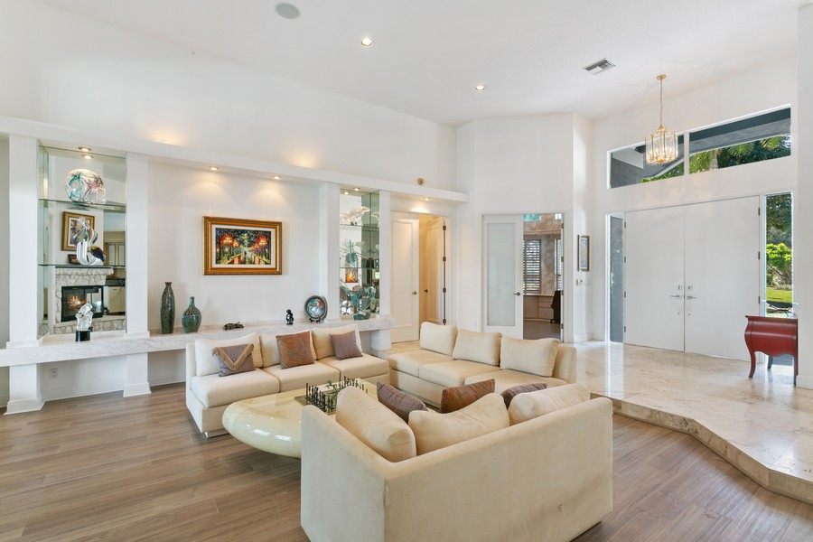 Real Estate Photography - 103 Woodsmuir Ct, Palm Beach Gardens, FL, 33418 - Foyer to Living Room
