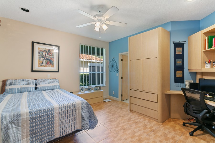 Real Estate Photography - 103 Woodsmuir Ct, Palm Beach Gardens, FL, 33418 - Bedroom 4 with Built In's