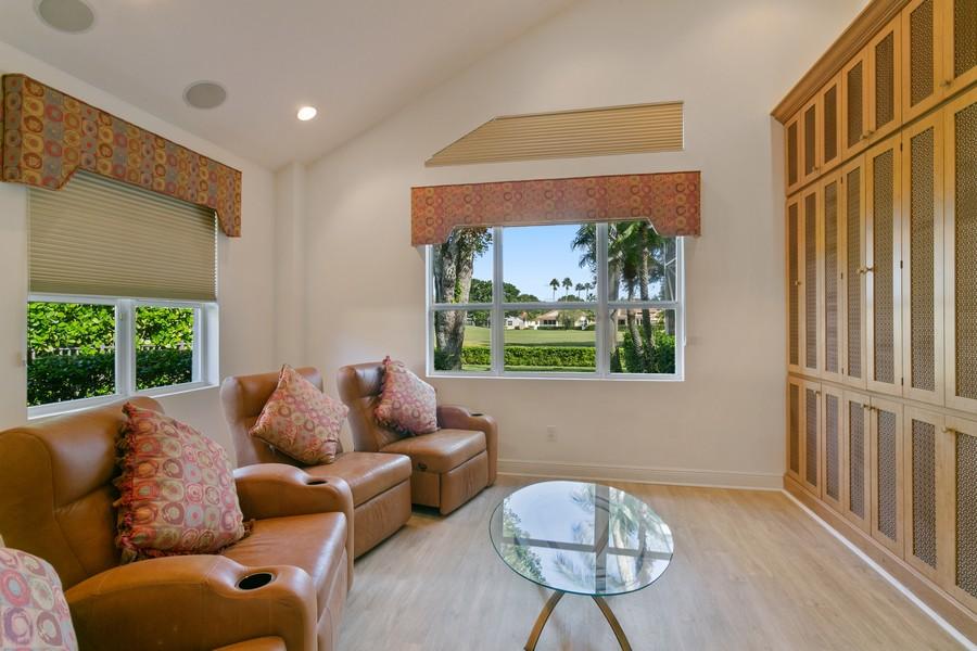 Real Estate Photography - 103 Woodsmuir Ct, Palm Beach Gardens, FL, 33418 - Media Room