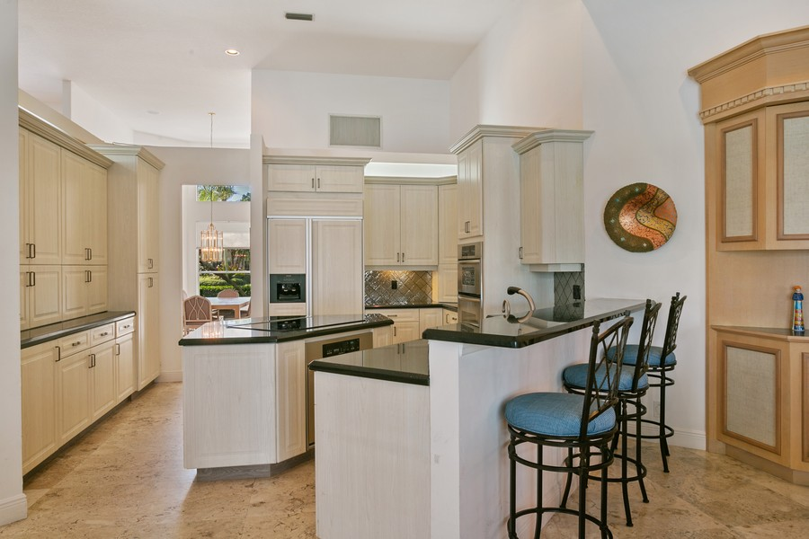 Real Estate Photography - 103 Woodsmuir Ct, Palm Beach Gardens, FL, 33418 - Newer Gourmet Kitchen