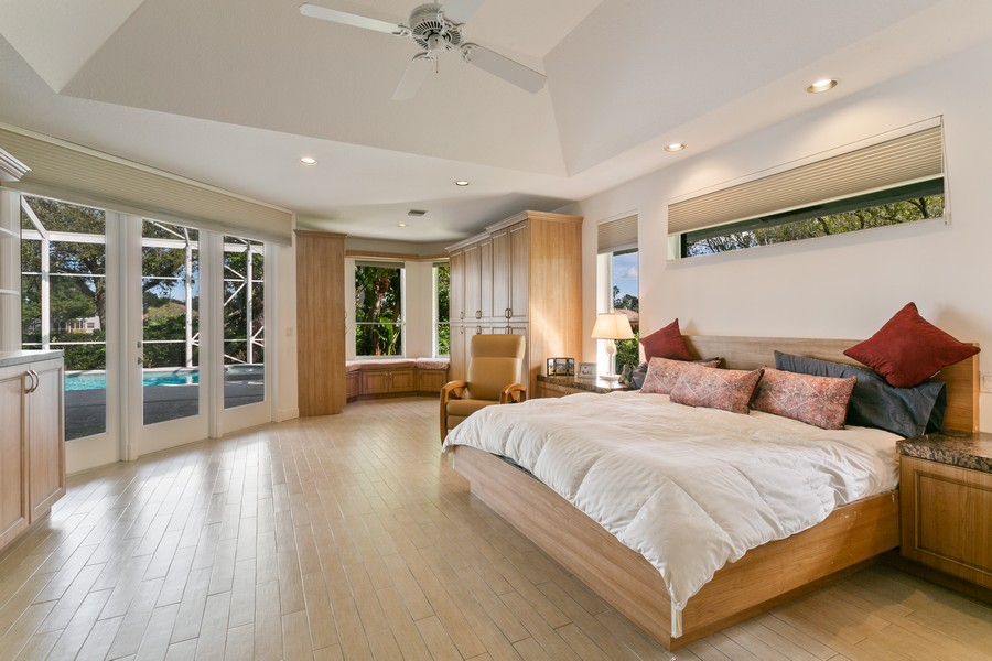 Real Estate Photography - 103 Woodsmuir Ct, Palm Beach Gardens, FL, 33418 - Spacious Master Suite