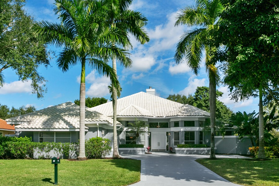 Real Estate Photography - 103 Woodsmuir Ct, Palm Beach Gardens, FL, 33418 - Front of Home.