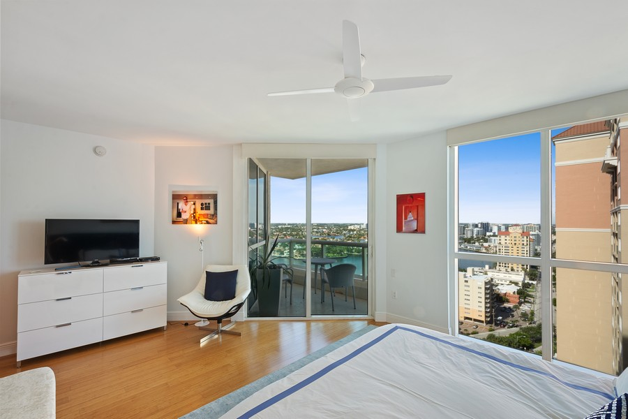 Real Estate Photography - 101 S Fort Lauderdale Beach Blvd 2206, Fort Lauderdale, FL, 33316 - Master Bedroom