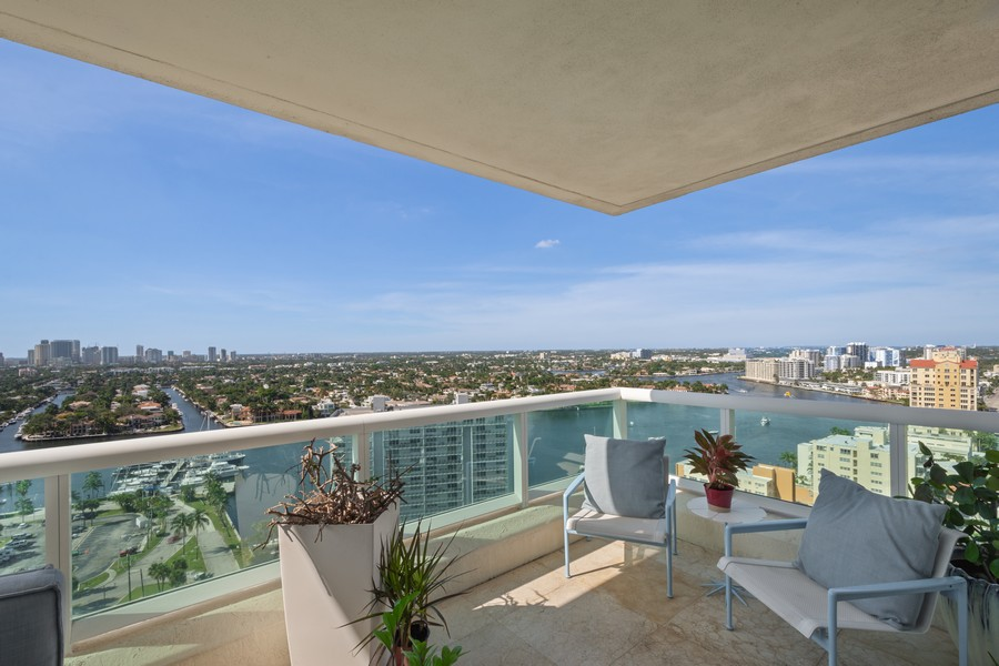 Real Estate Photography - 101 S Fort Lauderdale Beach Blvd 2206, Fort Lauderdale, FL, 33316 - Balcony