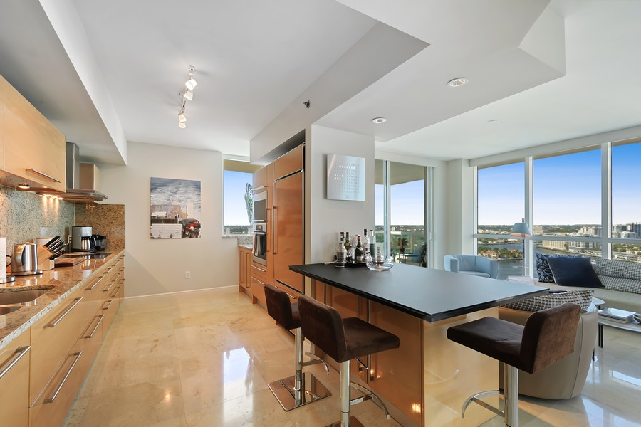 Real Estate Photography - 101 S Fort Lauderdale Beach Blvd 2206, Fort Lauderdale, FL, 33316 - Kitchen