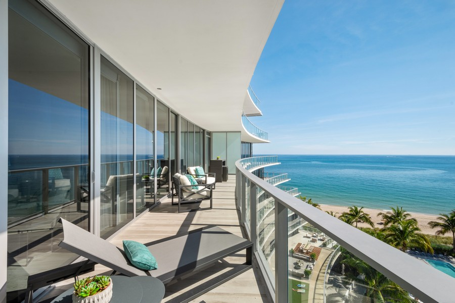 Real Estate Photography - 2200 N Ocean Blvd N703, Fort Lauderdale, FL, 33305 - Balcony