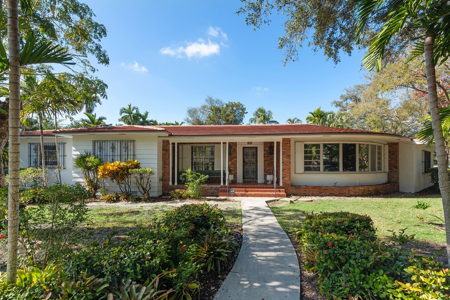 Real Estate Photography - 6200 Leonardo Street, Coral Gables, FL, 33146 - Front View