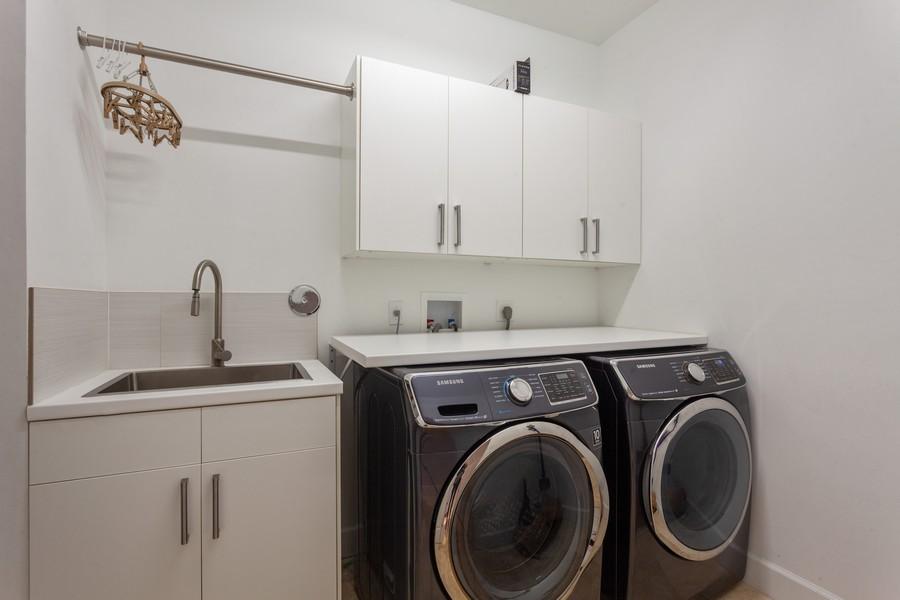 Real Estate Photography - 420 Alexandra Cir, Weston, FL, 33326 - Laundry Room