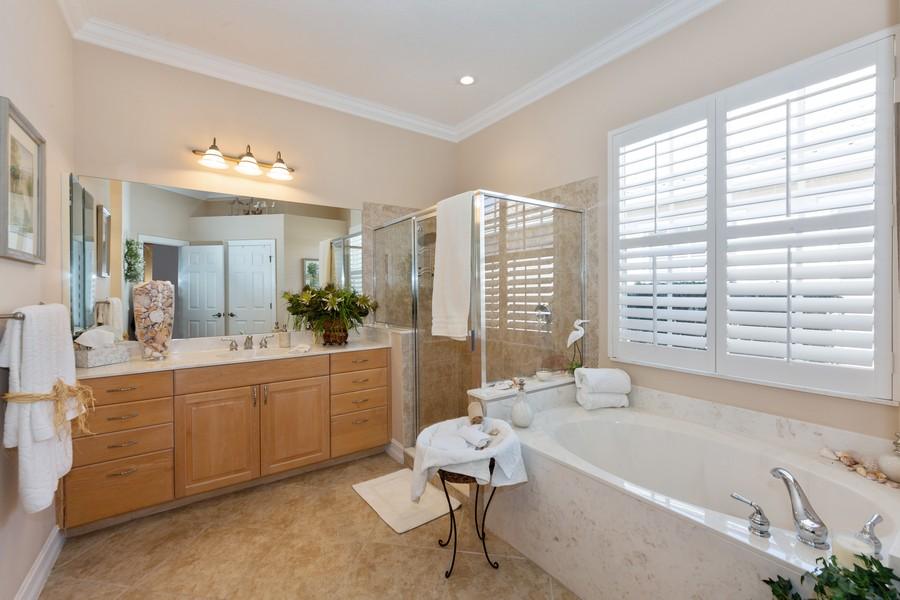 Real Estate Photography - 16177 Parque Lane, Naples, FL, 34110 - Master Bathroom