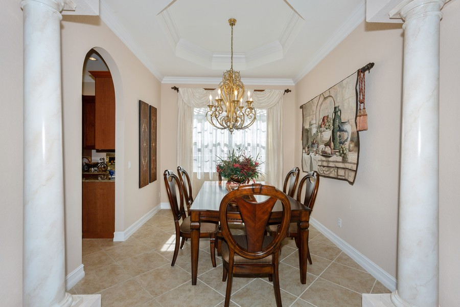 Real Estate Photography - 16177 Parque Lane, Naples, FL, 34110 - Dining Room