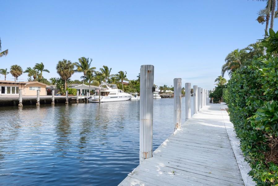 Real Estate Photography - 2825 NE 25th Street, Fort Lauderdale, FL, 33305 - Dock