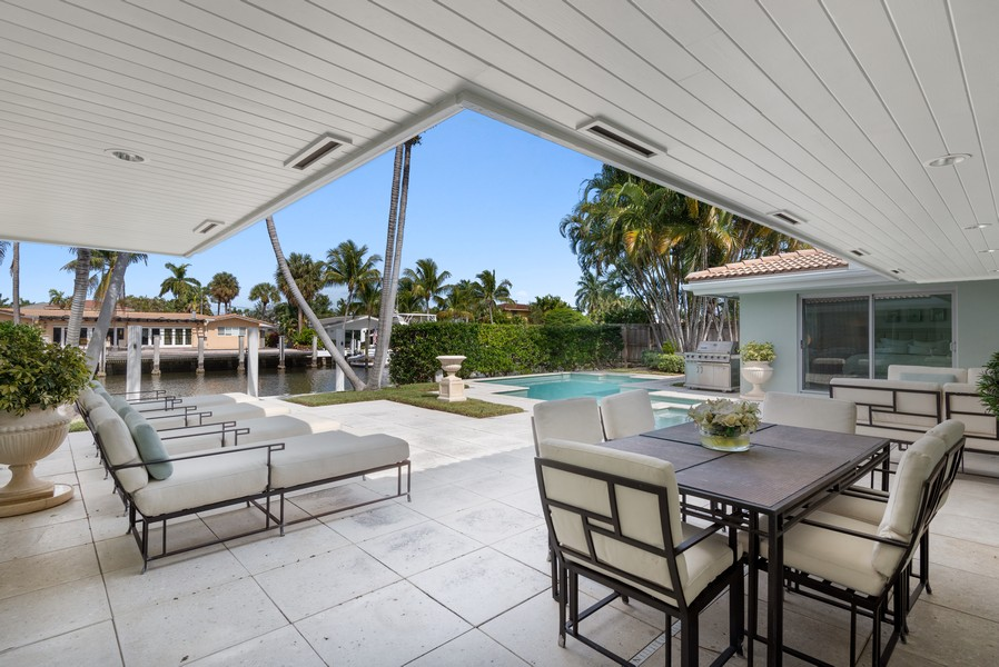 Real Estate Photography - 2825 NE 25th Street, Fort Lauderdale, FL, 33305 - Patio