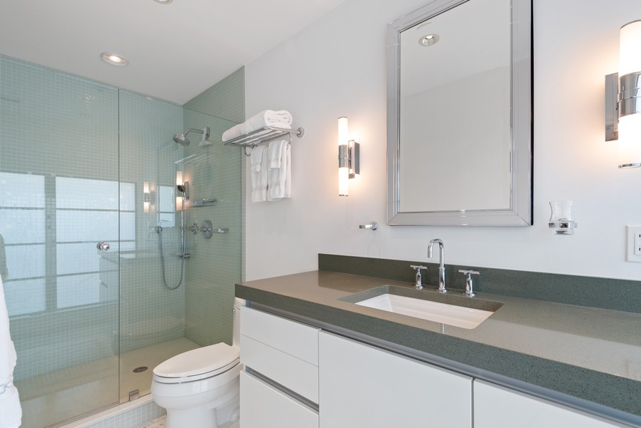 Real Estate Photography - 2825 NE 25th Street, Fort Lauderdale, FL, 33305 - Third Bedroom En Suite Bath