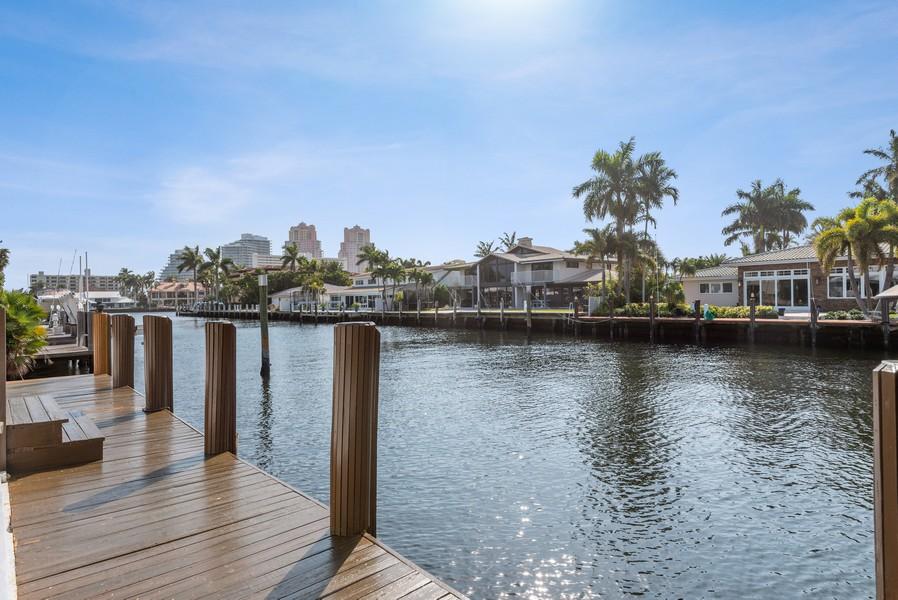 Real Estate Photography - 2864 NE 25th Court, Fort Lauderdale, FL, 33305 - Dock
