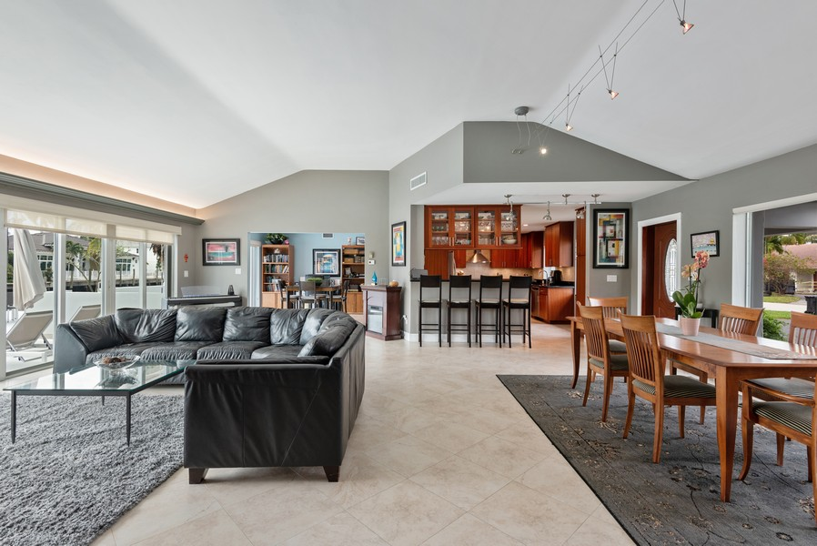 Real Estate Photography - 2864 NE 25th Court, Fort Lauderdale, FL, 33305 - Living Room / Dining Room