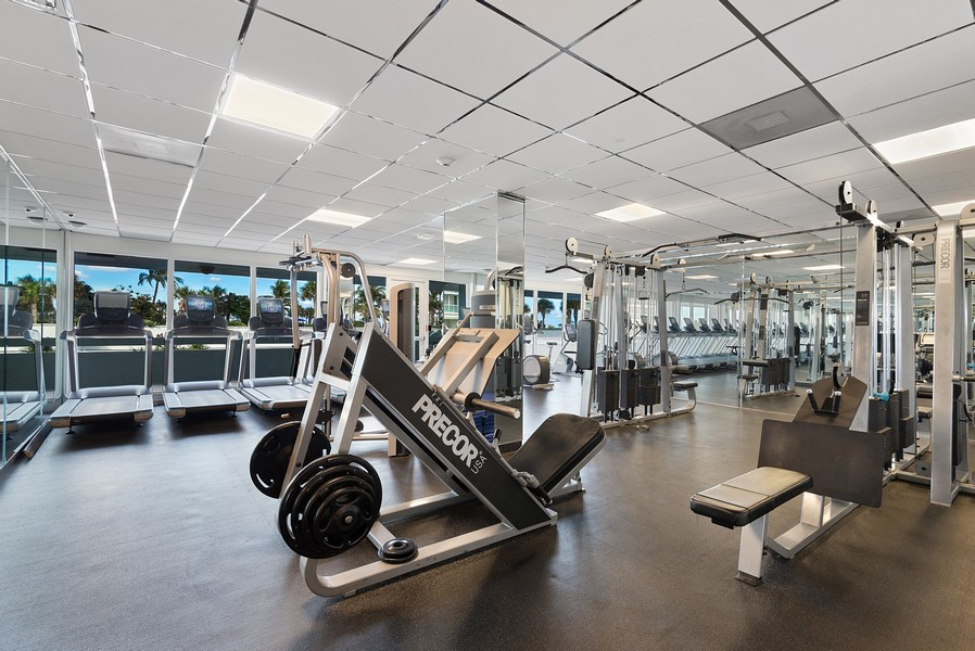Real Estate Photography - 2200 S Ocean Lane, 2904, Fort Lauderdale, FL, 33316 - Fitness Center