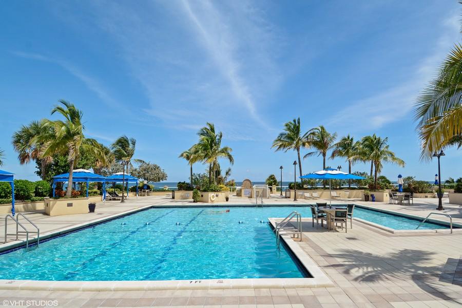 Real Estate Photography - 2200 S Ocean Lane, 2904, Fort Lauderdale, FL, 33316 - Ocean front pool