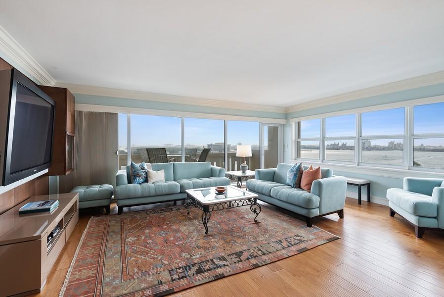 Real Estate Photography - 2100 S Ocean Drive, 7G, Ft Lauderdale, FL, 33316 - Living Room