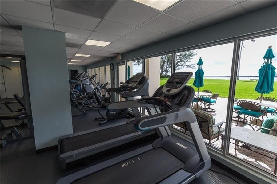 Real Estate Photography - 2100 S Ocean Drive, 7G, Ft Lauderdale, FL, 33316 - Fitness Center with Ocean View