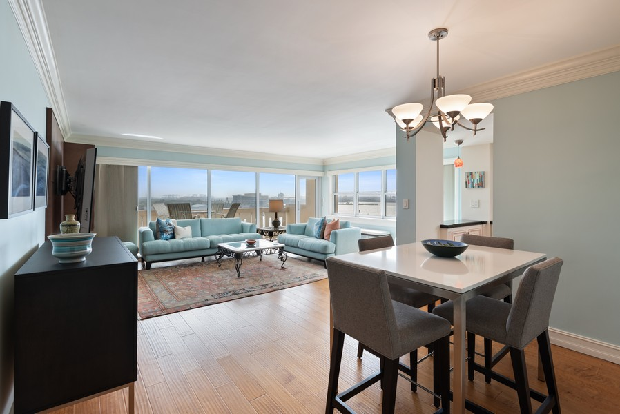Real Estate Photography - 2100 S Ocean Drive, 7G, Ft Lauderdale, FL, 33316 - Living Room / Dining Room