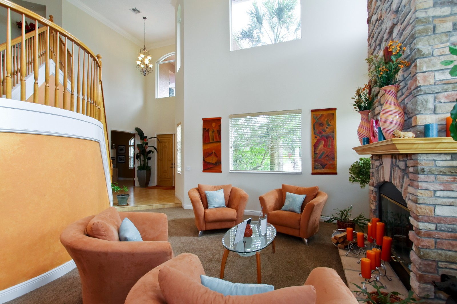 Real Estate Photography - 14542 Draft Horse Ln, Wellington, FL, 33414 - Living Room