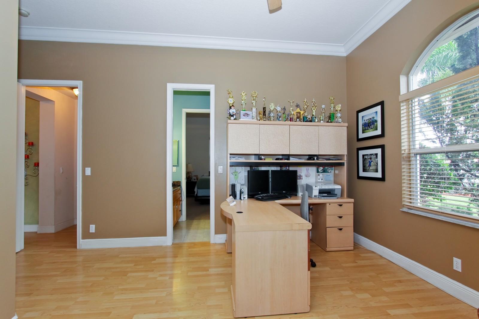 Real Estate Photography - 14542 Draft Horse Ln, Wellington, FL, 33414 - Office