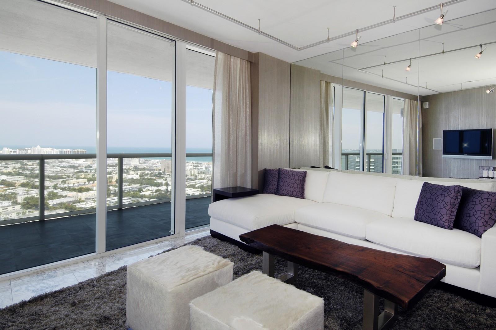 Real Estate Photography - 450 Alton Rd, Unit 2910, Miami Beach, FL, 33139 - Living Room