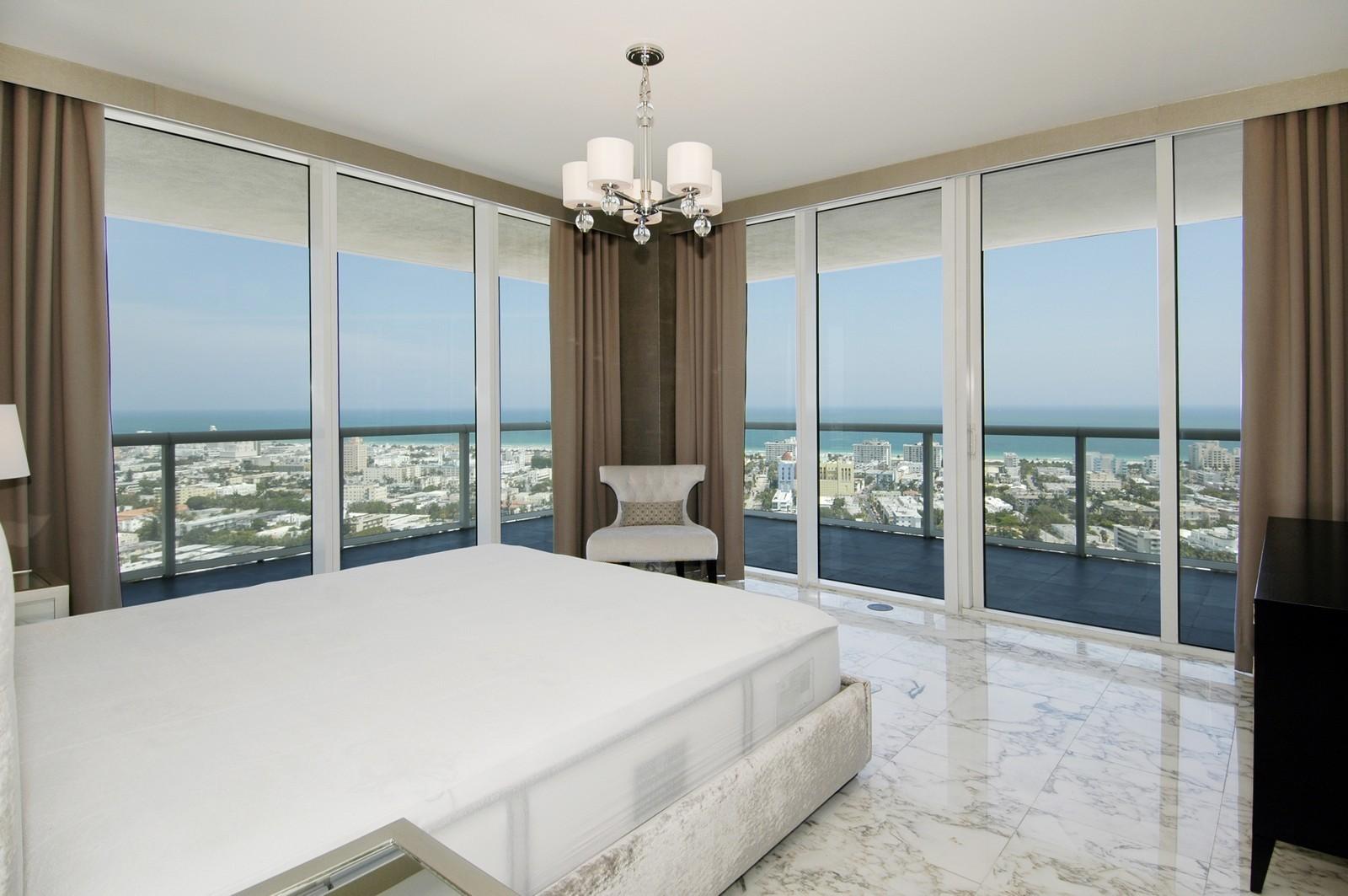 Real Estate Photography - 450 Alton Rd, Unit 2910, Miami Beach, FL, 33139 - Master Bedroom
