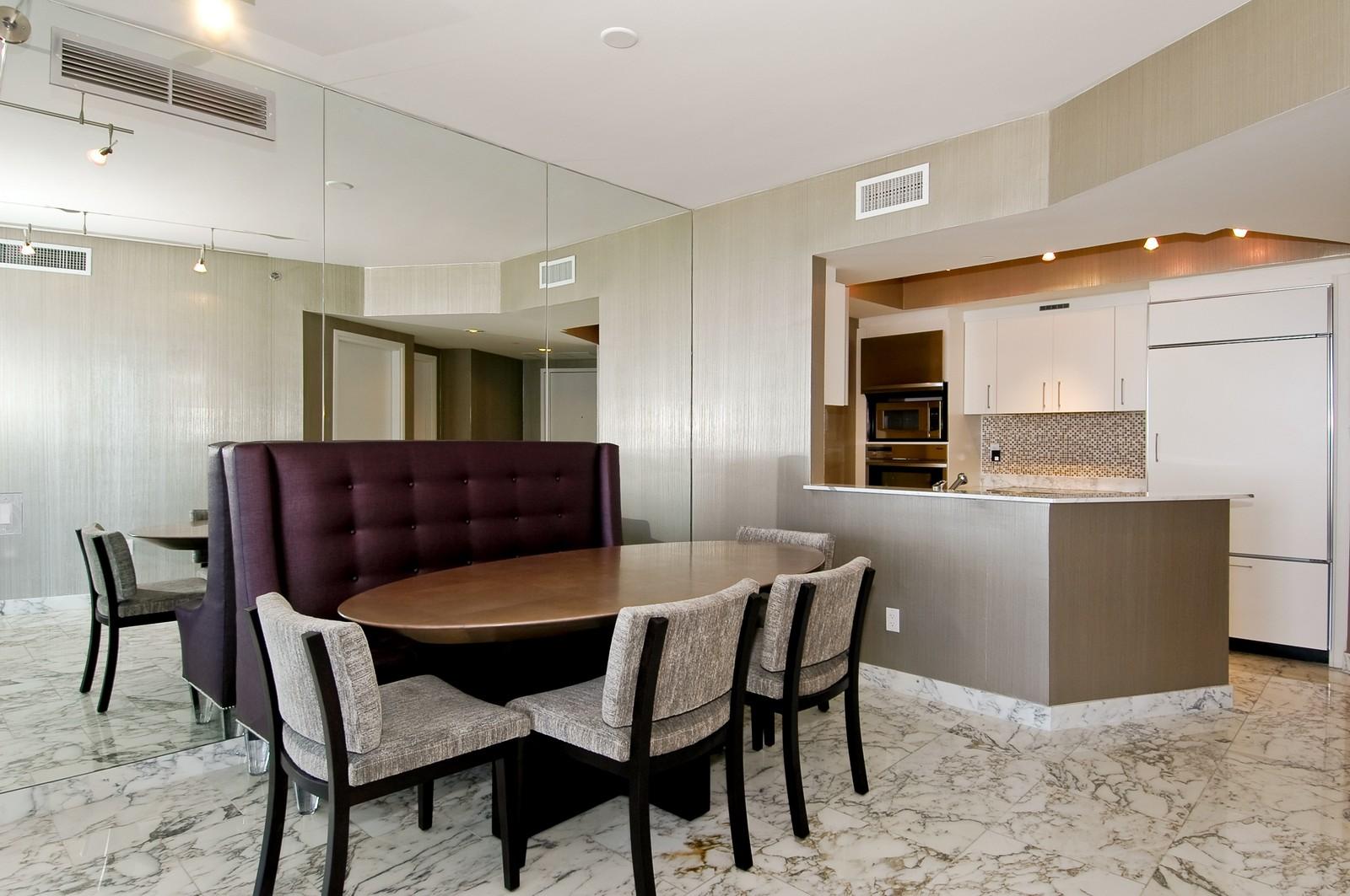 Real Estate Photography - 450 Alton Rd, Unit 2910, Miami Beach, FL, 33139 - Dining Room