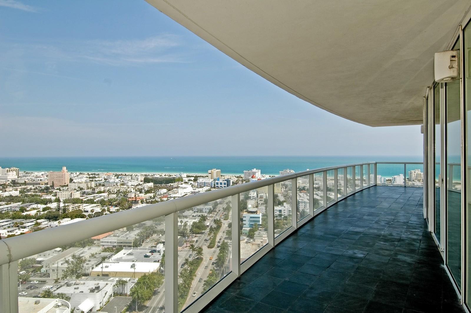 Real Estate Photography - 450 Alton Rd, Unit 2910, Miami Beach, FL, 33139 - Balcony