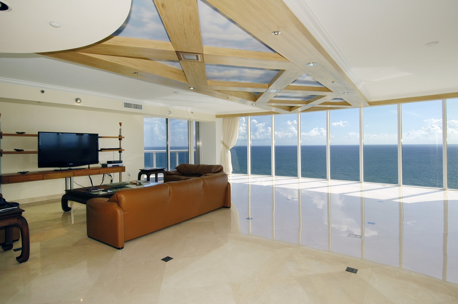 Real Estate Photography - 18911 Collins Ave, Unit 2601, Sunny Isles Beach, FL, 33160 - Living Room
