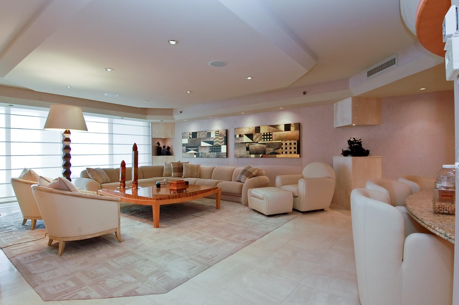 Real Estate Photography - 1500 S Ocean Blvd, Unit S903/4, Boca Raton, FL, 33432 - Living Room