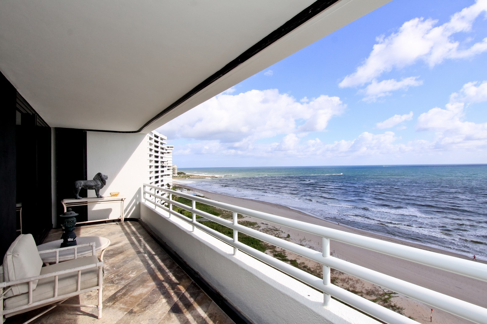 Real Estate Photography - 1500 S Ocean Blvd, Unit S903/4, Boca Raton, FL, 33432 - Balcony