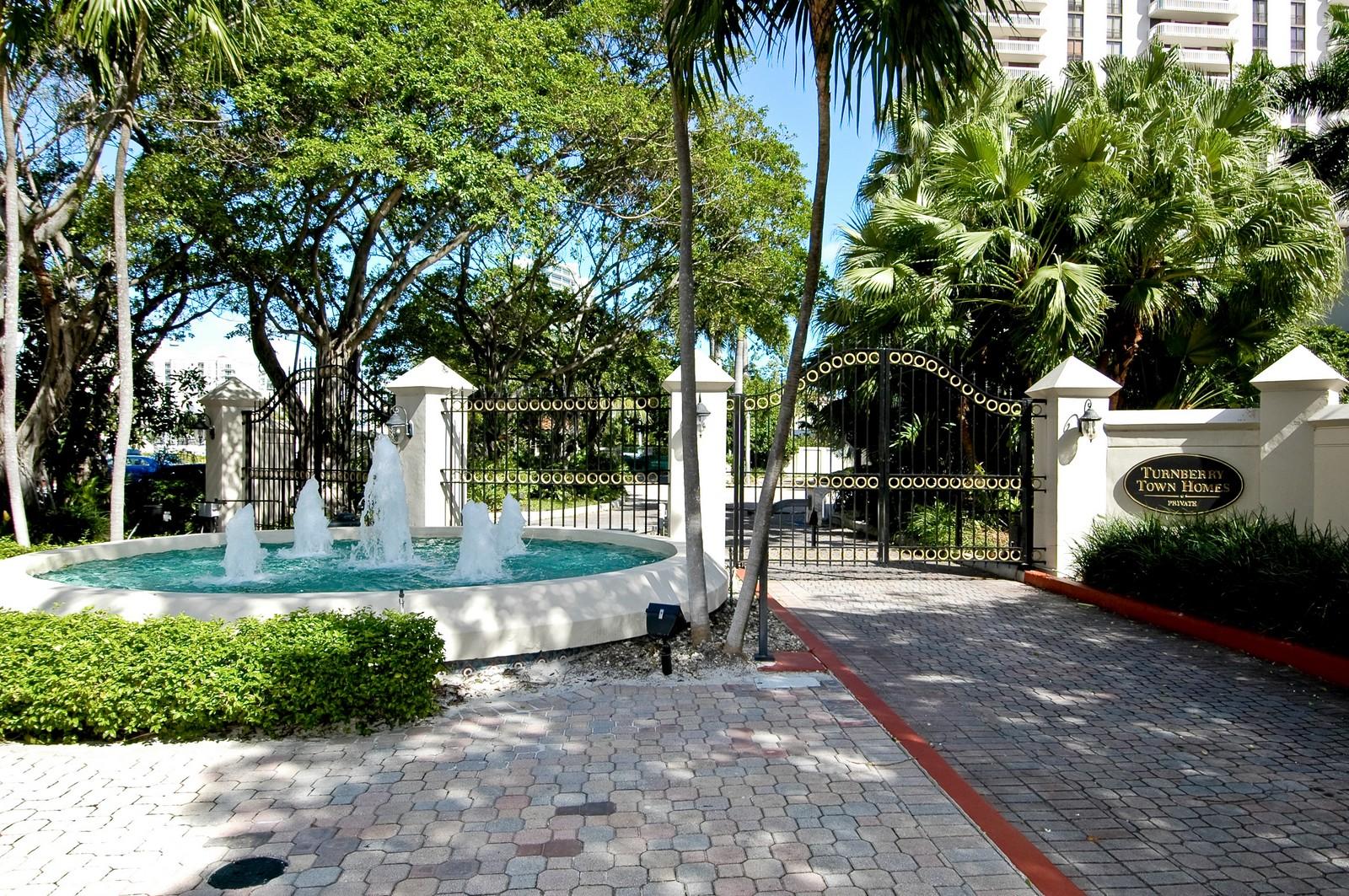 Real Estate Photography - 19566 NE 37 Ave, Aventura, FL, 33180 - Entrance