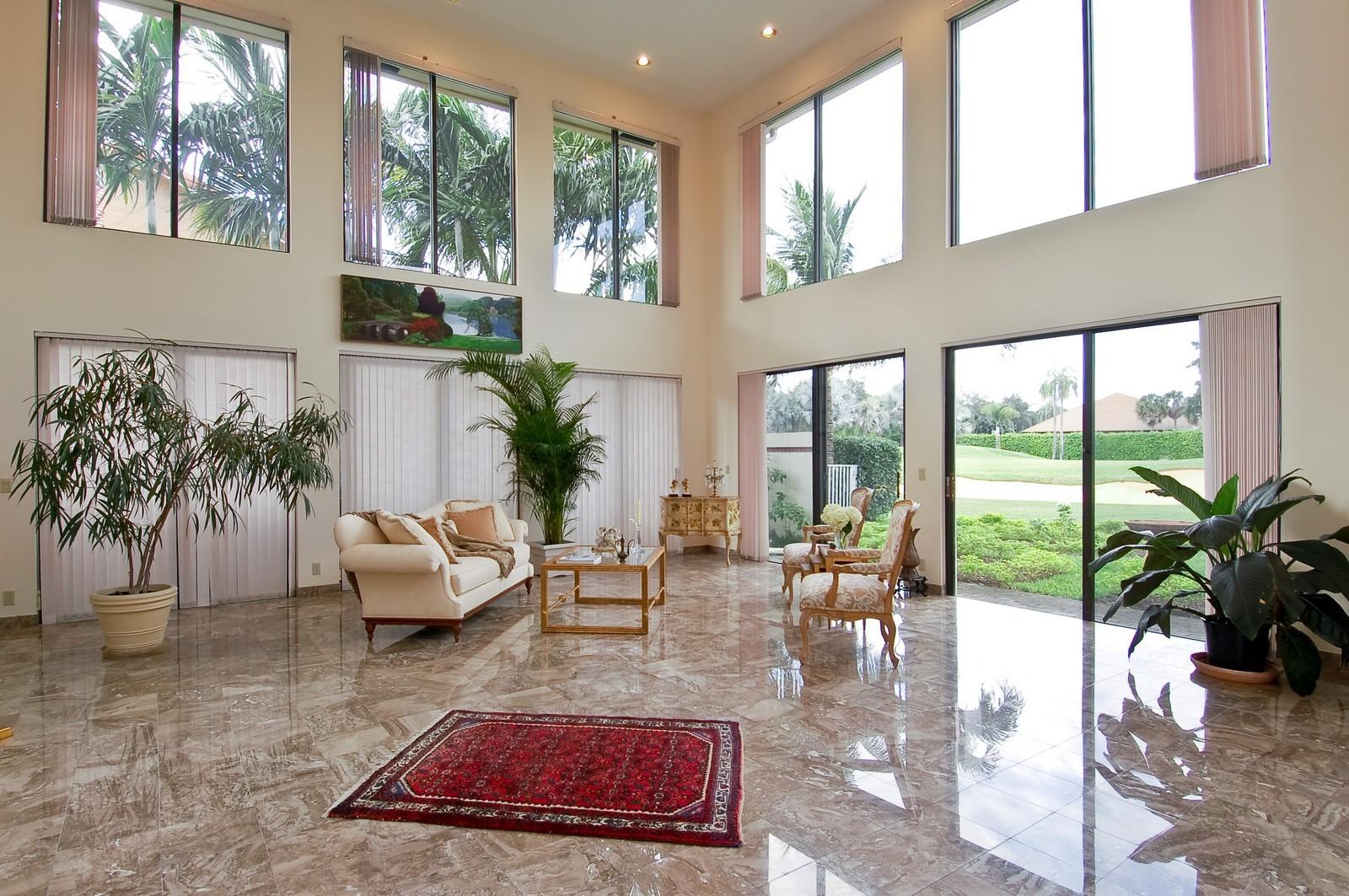 Real Estate Photography - 7339 Mandarin, Boca Raton, FL, 33433 - Living Room