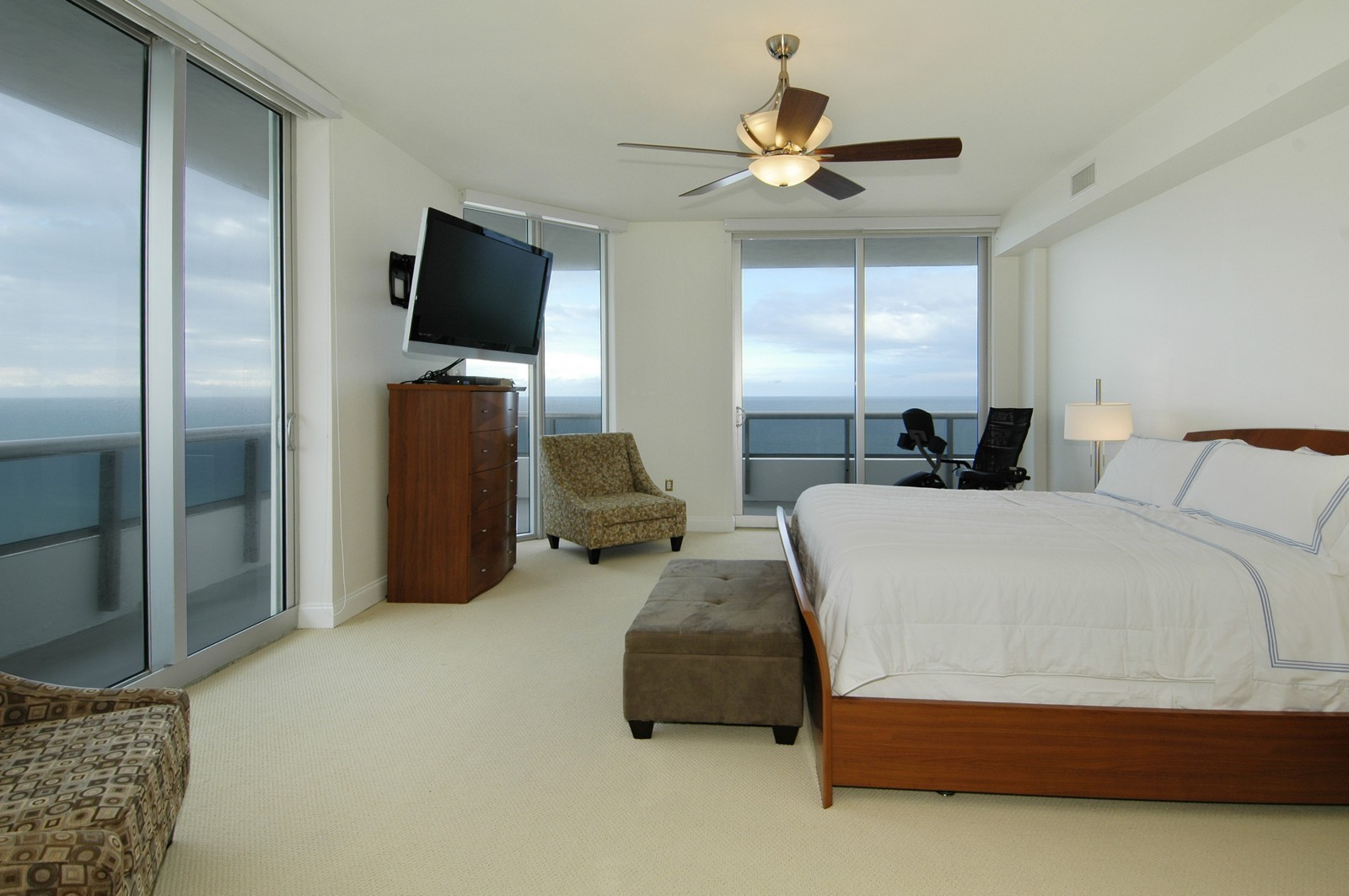 Real Estate Photography - 5801 Collins Ave, PH 1500, Miami Beach, FL, 33140 - Master Bedroom