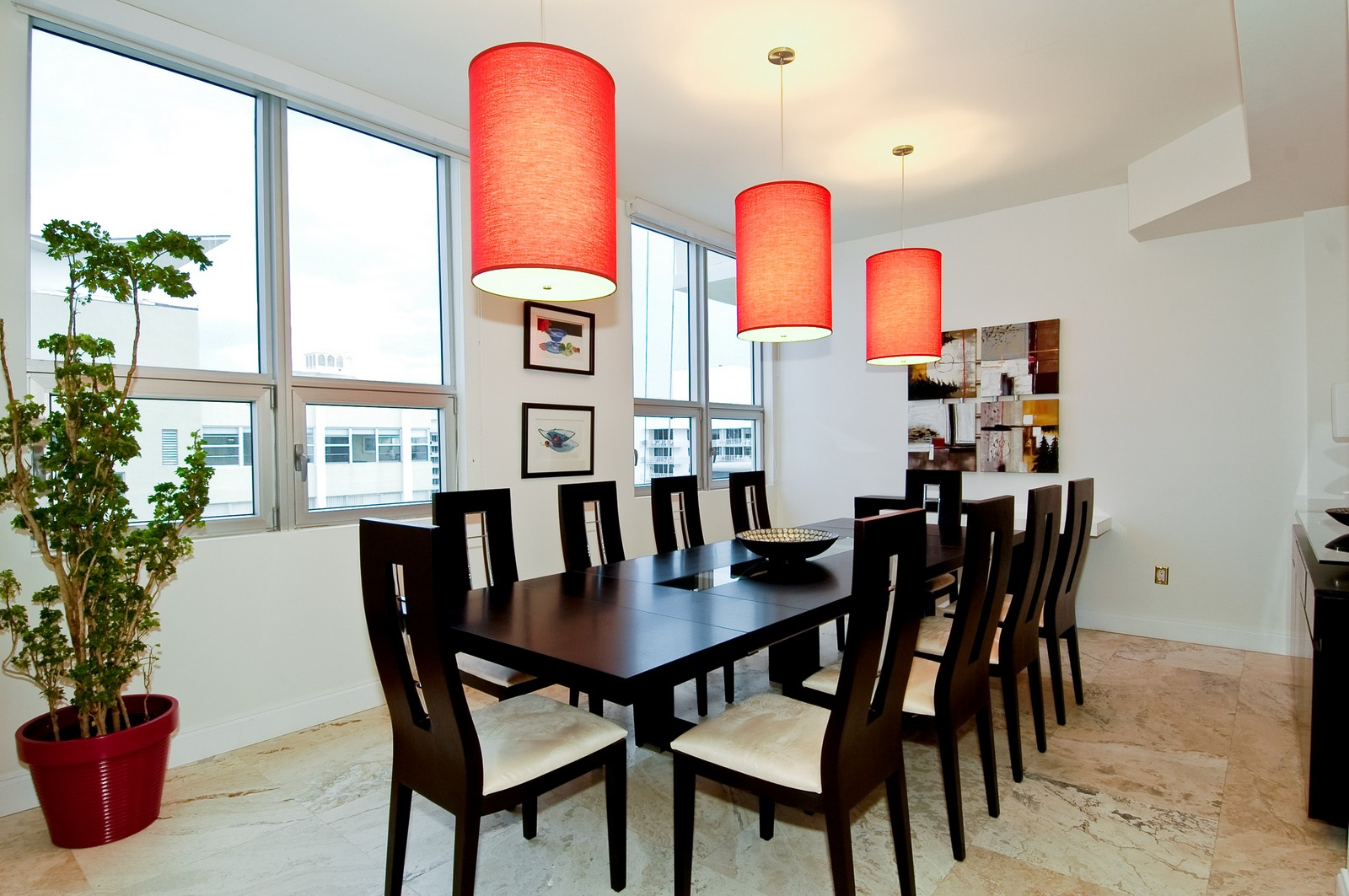 Real Estate Photography - 5801 Collins Ave, PH 1500, Miami Beach, FL, 33140 - Dining Room
