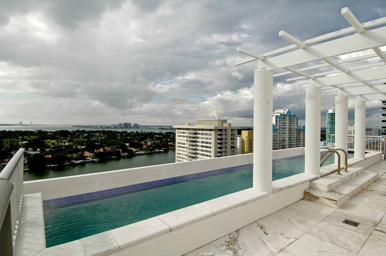 Real Estate Photography - 5801 Collins Ave, PH 1500, Miami Beach, FL, 33140 - Private Rooftop Pool