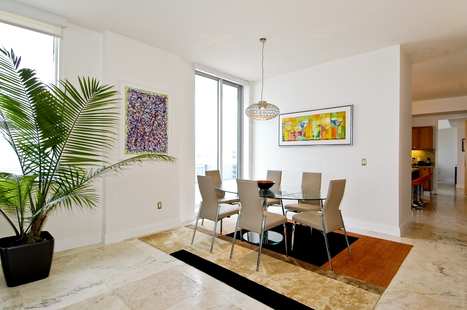 Real Estate Photography - 5801 Collins Ave, PH 1500, Miami Beach, FL, 33140 - Dining Area