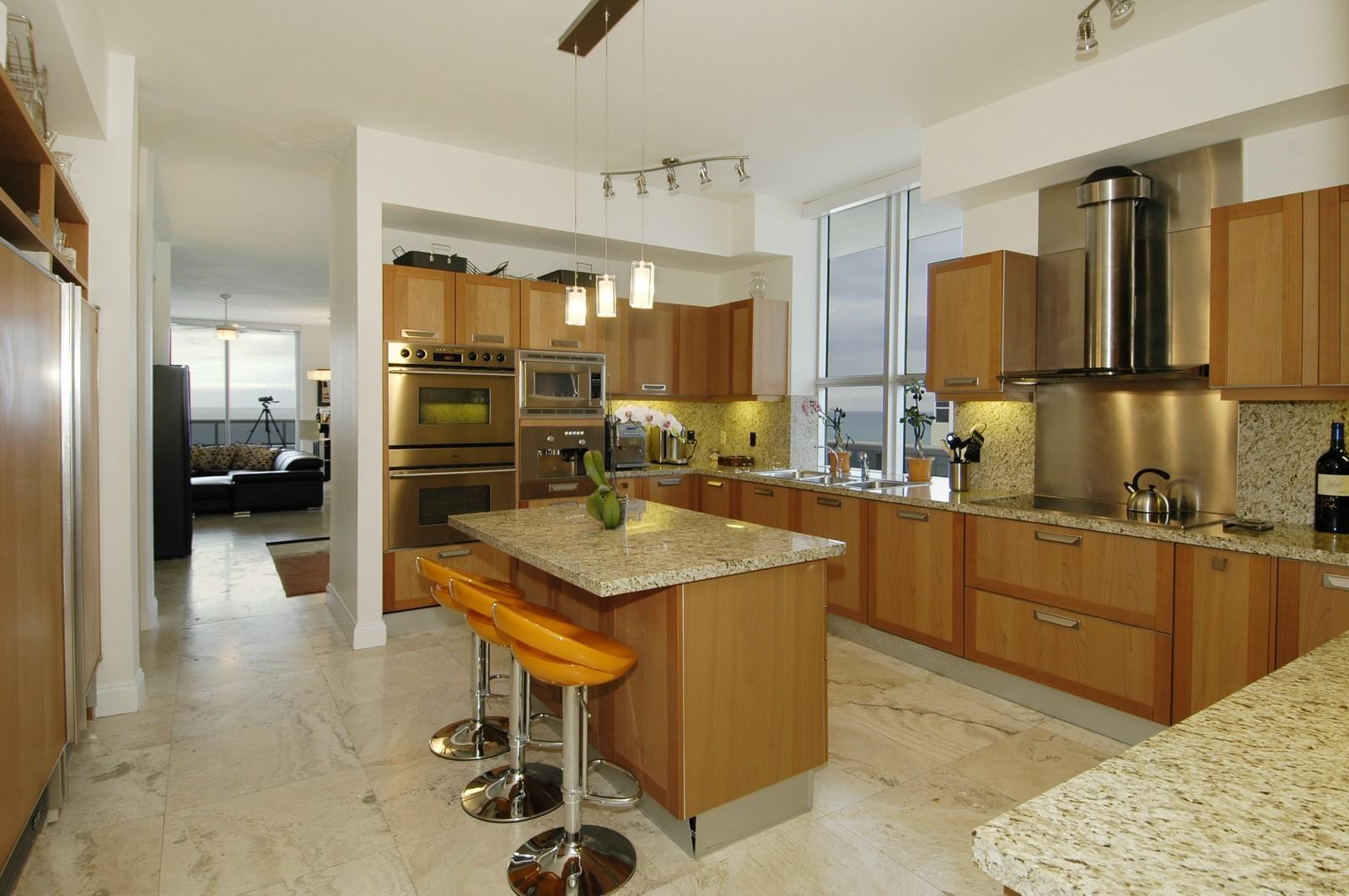 Real Estate Photography - 5801 Collins Ave, PH 1500, Miami Beach, FL, 33140 - Kitchen