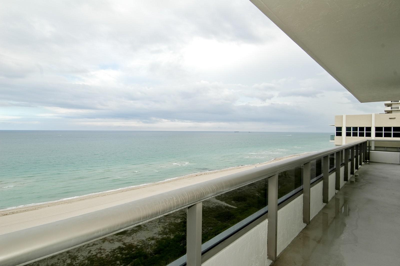 Real Estate Photography - 5801 Collins Ave, PH 1500, Miami Beach, FL, 33140 - Balcony