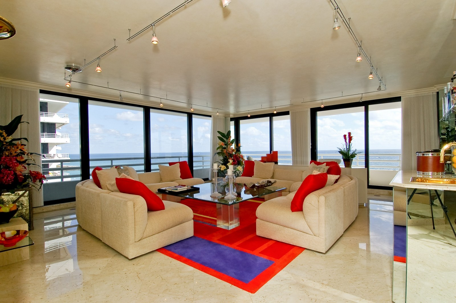 Real Estate Photography - 1500 S Ocean, Unit S-1101, Boca Raton, FL, 33432 - Living Room