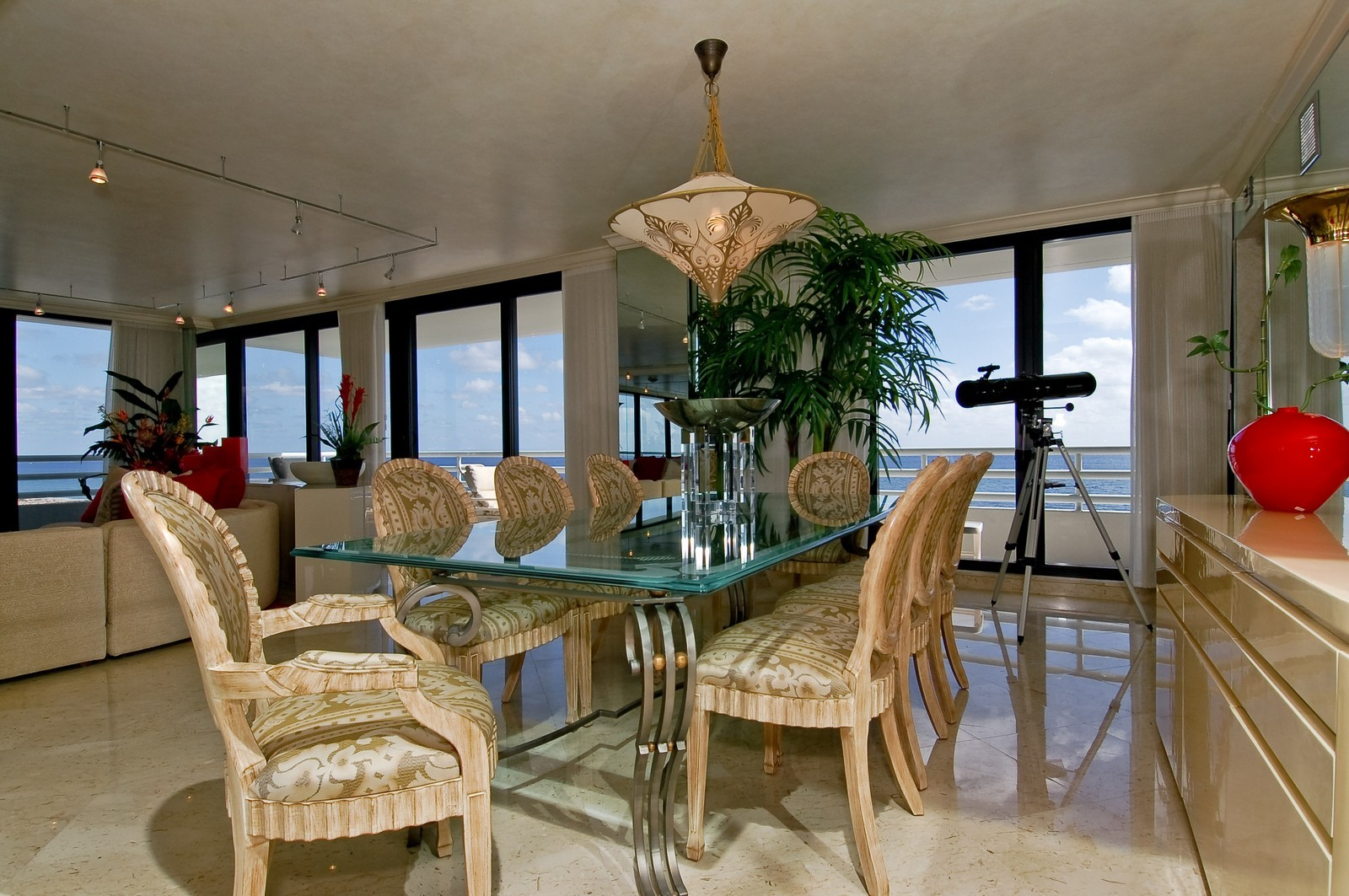 Real Estate Photography - 1500 S Ocean, Unit S-1101, Boca Raton, FL, 33432 - Dining Room